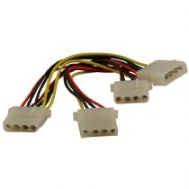 Molex Power Extension/Splitter Cable 1 x Male to 3 x Female Connectors